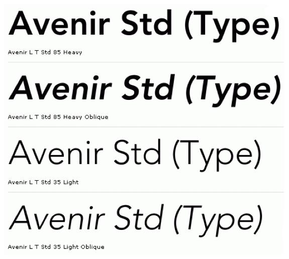 fonts in film